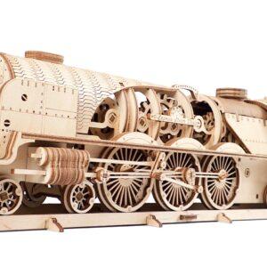 Dampflokomotive aus Holz