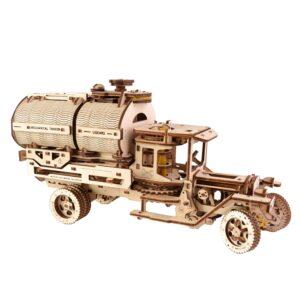 Ugears LKW Modell mit Tanker – LKW aus Holz – Holzbausatz , 594 Teile