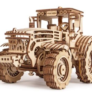 Wood Trick Modell aus Holz – Holzbausatz Traktor Oldtimer – 3D Puzzle, 401 Teile