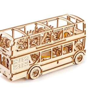 """Wooden City Modell aus Holz – """"LONDON BUS"""" – Holzpuzzle, 216 Teile"""