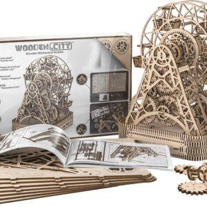 Wooden City Ferris Wheel – Riesenrad – Modell aus Holz, 470 Teile
