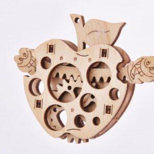 Woodik Apfel - Modell aus Holz Apfel für Kinder, 11 Teile