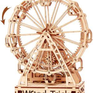 Wood Trick Holzbausatz– Ferris Wheel – Riesenrad – Modell aus Holz, 227 Teile,14+
