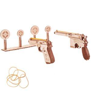 Waffen aus Holz, Holzmodelle von Wood Trick - Set Pistolen