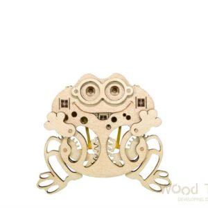 Holzbausatz Frosch für Kinder, mechanisches Modell aus Holz Woodik Frosch für Kinder
