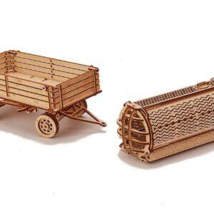 Holzbausatz Anhänger für Traktor von Wood Trick - Holzbausatz Bestller