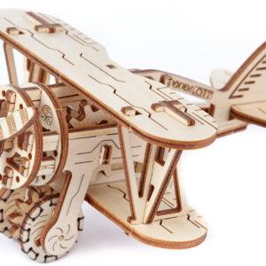 Modell aus Holz -Biplane-–-Flugzeug-–-Doppeldecker-Flugzeug-63-Teile