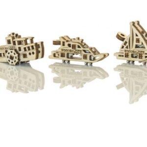Modelle aus Holz Schiffe, Holzbausätze Schiffe - drei verschiedene Modelle