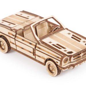 Cabriolet aus Holz von Wood Trick.Holzbausatz für Kinder. Auto für kleine Bastler