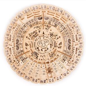 Wood Trick 3D-tec Bausatz – Maya-Kalender – Brainteaser – Modell aus Holz, 73 Teile