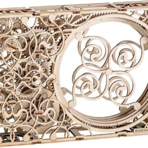 Wooden City Das mechanische Bild – Brainteaser aus Holz – Modell aus Holz ,265 Teile