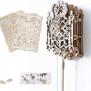 Wooden City Holzbausatz Uhr – Royal Clock – Modell aus Holz,126 Teile