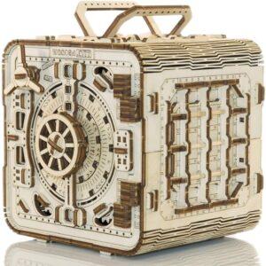 Wooden City Holzbausatz Geldschrank – Safe – Modell aus Holz, 202 Teile,14+