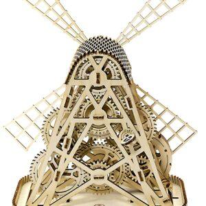 Wooden City Windmühle Bauwerk – Modell aus Holz Mill, 219 Teile