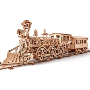 Wood Tricks Modell aus Holz –Holzbausatz Dampflokomotive R17, 158 Teile,14+