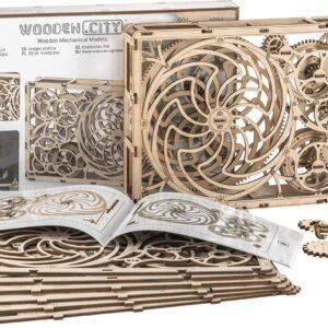 Wooden City Modell aus Holz – Das kinetische Bild – Brainteaser aus Holz,185 Teile, 14+