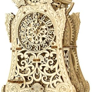 Wooden City Modell aus Holz – Holzbausatz Magische Uhr – 3D-tec Bausatz aus Holz,149 Teile