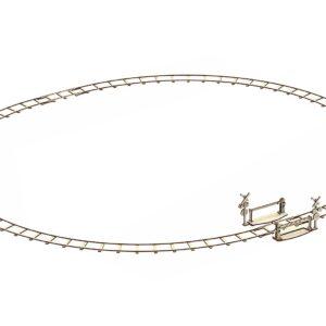 Wooden City Modell aus Holz – Schienen für Dampflokomotive – Holzbausatz,161 Teile,14+