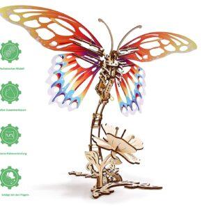 Holzbausatz Schmetterling, mechanisches Modell von Ugears mit 161 Teilen