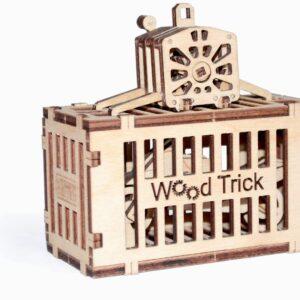 Holzbausatz für Kinder – Container für Kran –Modell aus Holz ,65 Teile