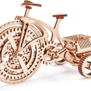 Wood Trick – Holzbausatz für Kinder – Fahrrad Oldtimer– Lernpuzzle,89 Teile
