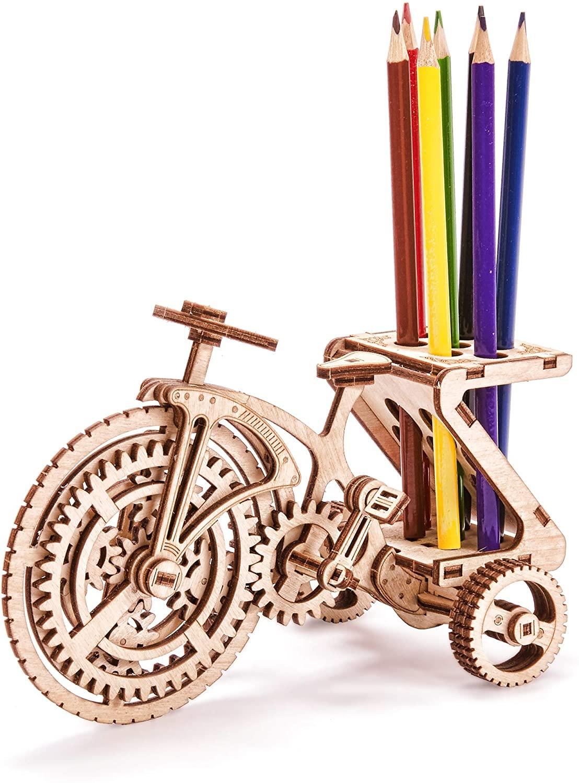 Holzbausatz für Kinder - Fahrrad Oldtimer-Lernpuzzle,89 Teile