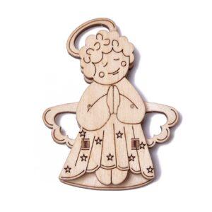 Wood Trick – Modell aus Holz – Woodik Engel – Holzbausatz für Kinder