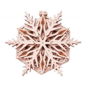 Wood Trick – Modell aus Holz – Woodik Schneeflocke – Holzbausatz für Kinder_1