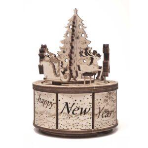 Wood Trick – Musikdrehdose aus Holz– Santa's Carousel - Karussell des Weihnachtsmanns_2