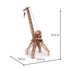 Wood Trick Holzbausatz -Kran mit Container – Modell aus Holz, 288 Teile_8