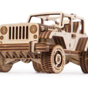 Wood Trick Holzbausatz für Teenagers-Set 3 Autos Safari Jeep , Cabriolet und ATV,266 Teile_4