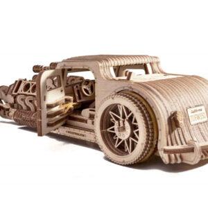 Wood Trick – Modell aus Holz Hot Road Hot Rod – Oldtimer Holzmodell Modellbau für Sammler – Holzbausatz Auto für Erwachsene_3