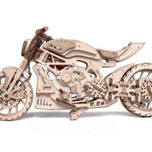 Wood Trick – Modell aus Holz Motorrad DMS – Motorcycle DMS Holzbausatz für Bastler _6