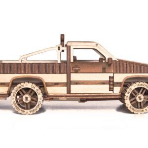 Wood Trick – Modell aus Holz Pickup Truck WT-1500 – Modellbau Holzbausatz ohne Klebstoffe für Anfänger_5
