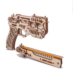 Wood Trick Modell aus Holz Waffe Pistole Holzbausatz Erwachsene