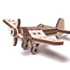 Wood Trick – Woodik Flugzeug aus Holz– Modell aus Holz für Kinder