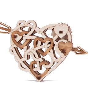 Wood Trick – Woodik Herz – Modell aus Holz Herz – mechanisches Holzmodell Herz für Kinder_2