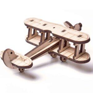 Wood Trick – Woodik Mini Flugzeug aus Holz– Modell aus Holz für Kinder_3