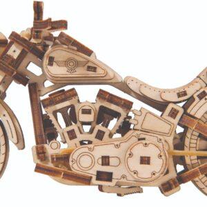Wooden City – Modell aus Holz Cruiser V-Twin Motorrad aus Holz – Holzbausatz für Teenagers und Anfänger