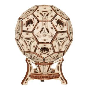 Wooden City – Modell aus Holz Fußballpokal – Stiftehalter aus Holz – Holzbausatz für Kinder – Modellbau für Kinder, Football Cup