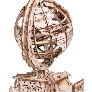Wooden City – Modell aus Holz Globus aus Holz – Modellbau mechanisches Modell aus Holz ohne Klebstoff für Bastler, world globe