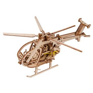 Wooden City – Modell aus Holz Hubschrauber – Holzbausatz für Anfänger und Teenagers, Helicopter