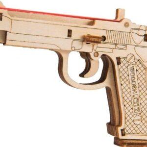 Wooden City – Modell aus Holz Pistole - DIY Spielzeug mechanische Modell The legend BRT-9– Modellbau für Kinder